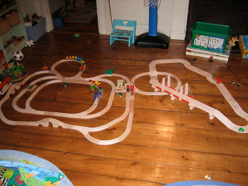 Once upon a time, the trains ruled the room...