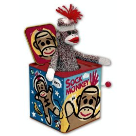 Sock monkey surprise