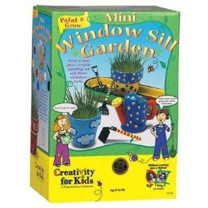 ... Windowsill Garden Kit For Kids. It Comes With Some Small Pots And  Paints To Decorate Them, Soil, Seeds And Some Little Garden Tools.